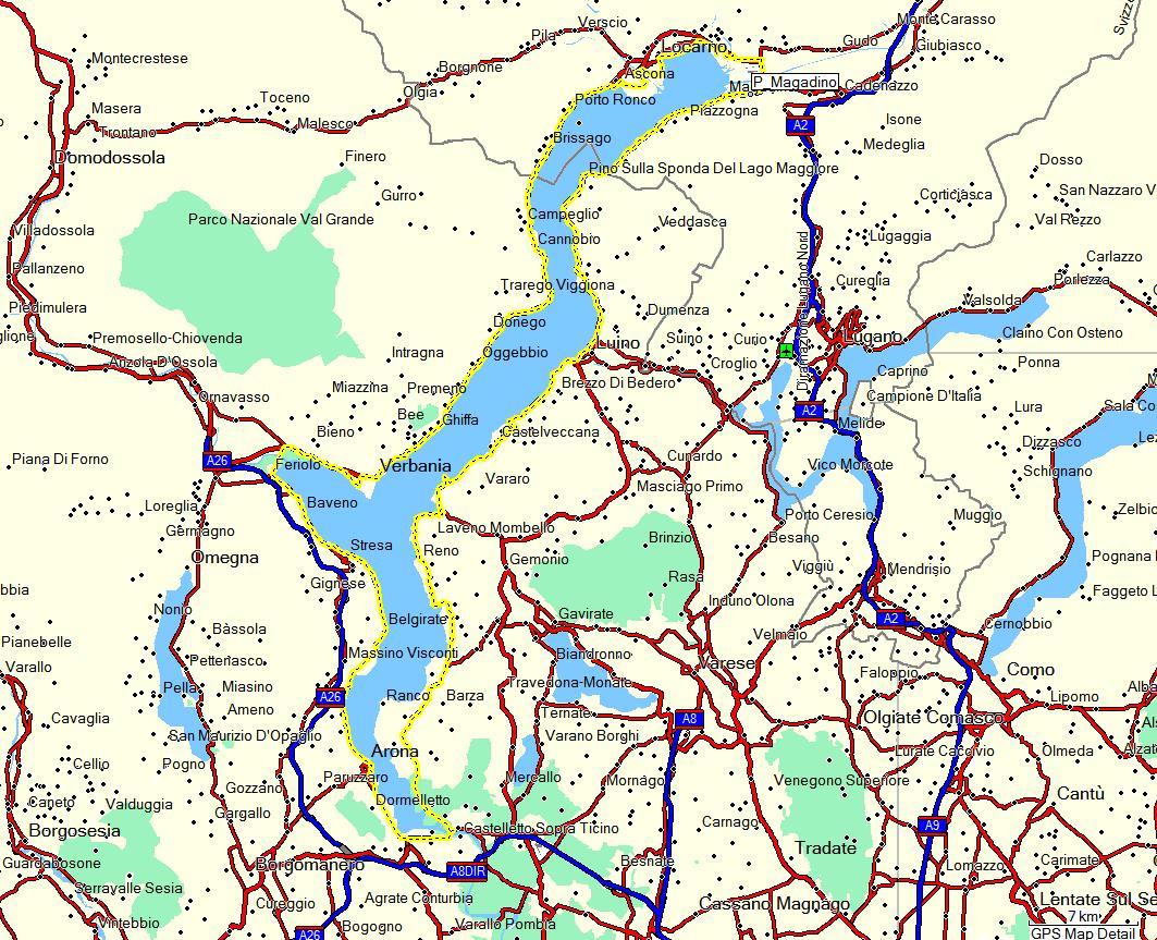 Cartina Stradale Lago Maggiore.Bike Around Il Lago Maggiore